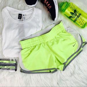 💰SALE Nike Dri-Fit Running Shorts Neon Yellow